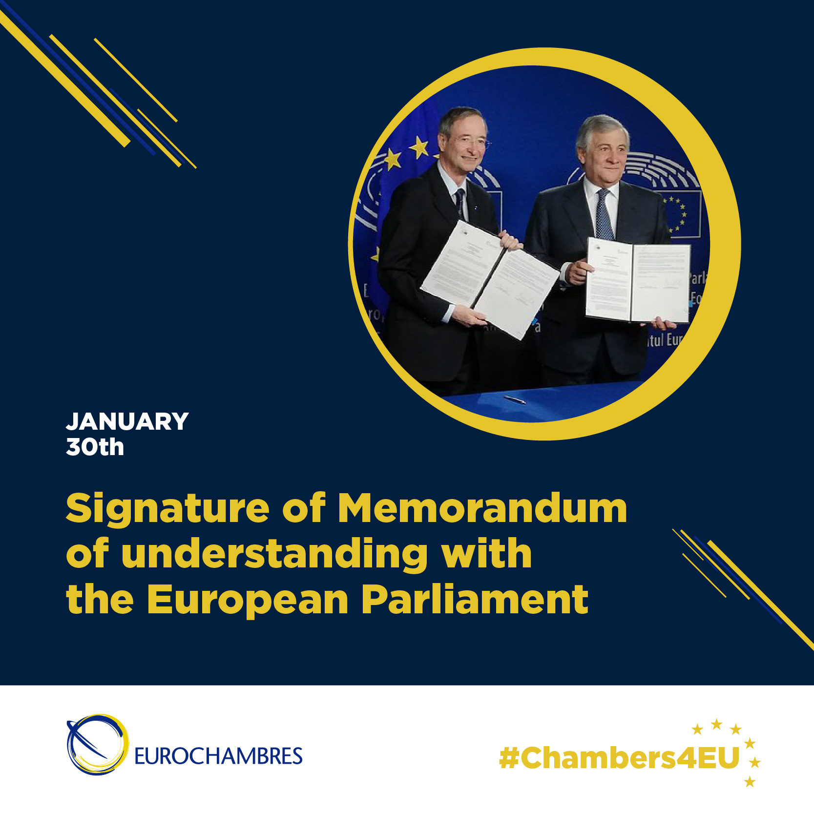 30 January: Signature Memorandum of Understanding with the EP